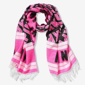 VS Pink Scarf Fringe Oversized Wrap Blanket Style